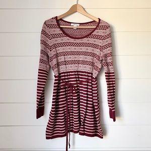 MOTHERHOOD MATERNITY Patterned Striped Sweater